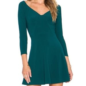 NBD X REVOLVE 3/4 Sleeve Green Lined Dress